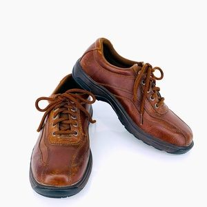 Dunham Leather Waterproof Bike Toe Lace Up Oxford